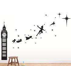 peter pan second star wall decal decal guru