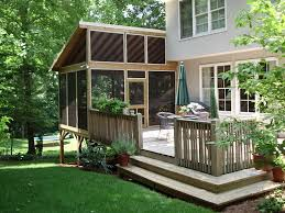 Screened In Deck Plans Exterior Portable Screen Porch For Deck With Screen Porch Ideas
