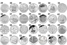 the rarest and most valuable 50p coins and you could have one