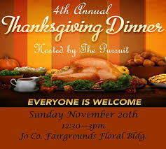 upcoming events 4th annual community thanksgiving dinner at the