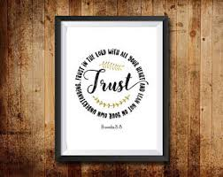 trust god print etsy
