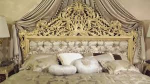 Double Bad Design Furniture The Luxury Double Bed Emperador Gold In Fine Carvings And Soft
