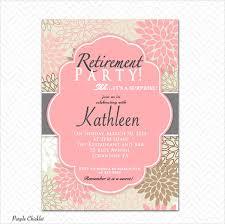free retirement invitation templates u2013 diabetesmang info