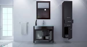avola 36 inch bathroom vanity integrated tempered glass sink top