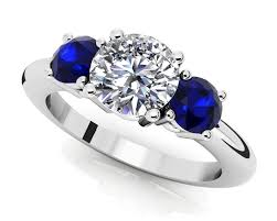 three stone engagement rings design your own three stone diamond engagement ring