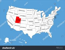 County Map Utah by Utah State Usa Vector Map Isolated Stock Vector 309561905