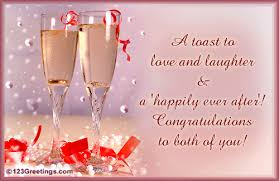 wedding greeting message a toast to you free congratulations ecards greeting cards 123