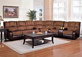 Leather Sectional Recliner Sofa by Microfiber Sectional With Recliner U2013 Mthandbags Com