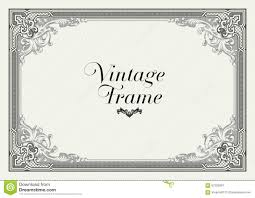 vintage ornament border decorative floral frame vector stock