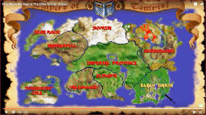 Map Of Nirn How Big Is The Map Of The Elder Scrolls Arena Youtube