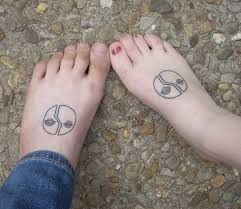 unique couples matching tattoo on foot unique wedding ideas