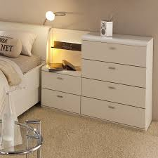 white stained bed side table with three drawer and rounded bedroom furniture white stained bed side table with three drawer