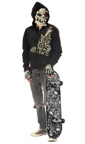 Zombie Halloween Costumes Boys Zombie Monster Dead Skater Skateboard Boys Walking Dead Halloween