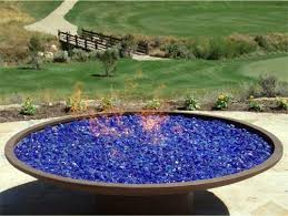 Firepit Glass Tumbled Landscape Firepit Glass Assorted Color Options 50 Lb Bag