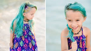 11 years old that has highlights at the bottom of their hair mom defends letting her 6 year old daughter dye her hair unicorn