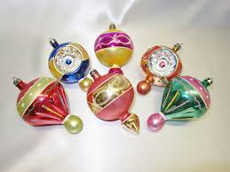 6 large fancy poland finial blown glass christmas ornaments from
