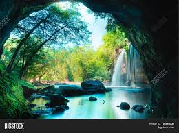 amazing cave deep forest beautiful image u0026 photo bigstock