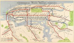 Nyc Subway Map Poster by 1924 Routes Of The Irt New York U2013 Transit Maps Store