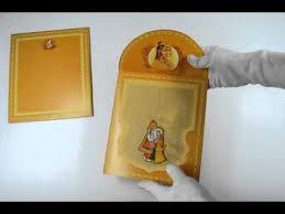 Best Indian Wedding Invitations D 1091 Orange Color Indian Wedding Invitations Best Indian
