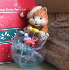 enesco ornament christmas fishes from santa paws the treasury of