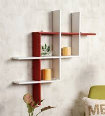 wall shelves buy angular multi purpose wall shelf in white finish by