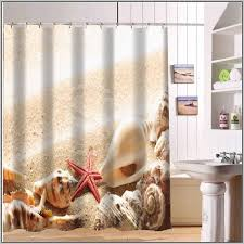 Shower Curtain Beach Theme Amazing Art Seashell Shower Curtain Bathroom Set Seashell Shower