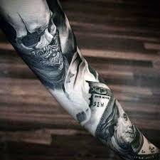 tattoo trends realistic money forearm sleeve tattoo ideas for