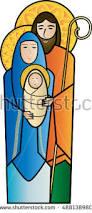 christmas nativity religious holy family scene stock vector