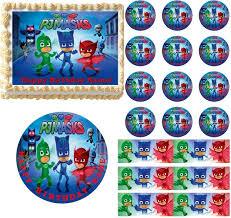 edible cake images pj masks edible cake topper image frosting sheet cake decoration