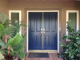 modern blue front door get the look with dunn edwards indigo
