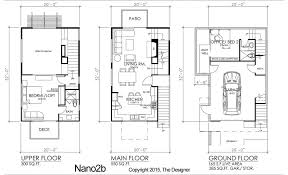 3 story townhouse floor plans modern affordable story residential designs the house designers