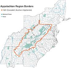 Appalachian Mountains On Map Appalachia Amst 63