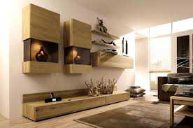 living outstanding modern built in tv wall unit designs for
