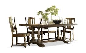 newburgh dining table with 4 wood side chairs hom furniture