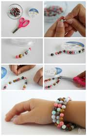 make beads bracelet images Kids crafts beaded stretch bracelets tutorial jpg