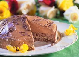 chocolate cake with marzipan filling and nougat cream recipe eat