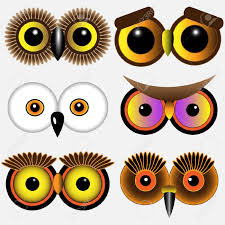 eyes of owls vector set royalty free cliparts vectors and stock