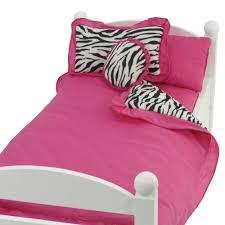 Pink Zebra Comforter Amazon Com Fits 18