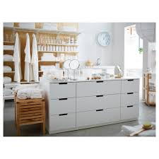 askvoll chest of 3 drawers white stained oak effectwhite 70x68 cm
