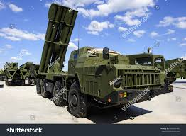 modern army vehicles missile launcher ready attack on powerful stock photo 609824495