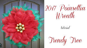 2017 poinsettia wreath tutorial by trendy tree