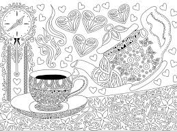 99 best coffe coloring pages images on pinterest coloring