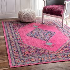 nuloom vintage persian border pink rug 8 u0027 x 10 u0027 overstock com