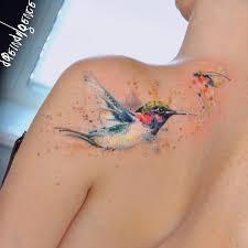 delicate watercolor tattoos look like beautiful paintings on skin