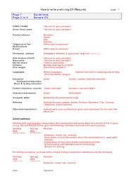 How To Write A Resume For Kids Wwwhow To Write Curriculum Vitaecom