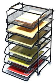 Desk Letter Organizer Desk Organizer Tray Smoke Grey Size 2 Drawer Acrylic Line Etched