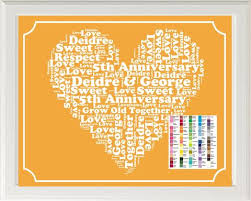 fifth anniversary gift personalized 5th anniversary gift word print 5th anniversary gif