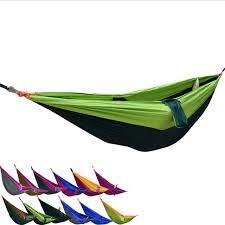 drop shipping portable nylon double hammock garden outdoor camping