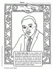 Martin Luther King Jr Coloring Page Black History Month Printable Dr Martin Luther King Jr Coloring Pages