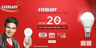 snapdeal extra 20 off eveready led bulbs and emergency lights